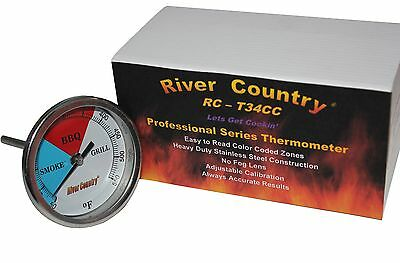 """3"""" River Country  Adjustable BBQ, Grill, Smoker Thermometer"""