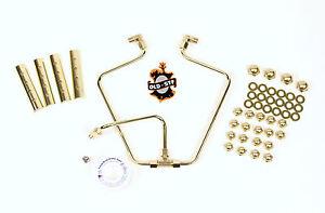 Old-Stf 1966-84 Shovelhead engine hardware - oil lines - Brass Dress up Kit USA