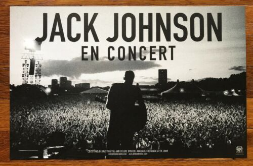 Jack Johnson En Concert RARE original promo double sided poster