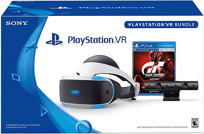 Sony PlayStation VR PS4 VR Gran Turismo GT Sport Bundle Headset NEW