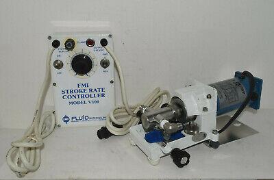 Working Fmi Cerampump Model Qv Lab Metering Pump Head W Model V100 Controller