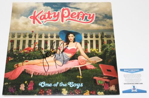 KATY PERRY SIGNED 'ONE OF THE BOYS' VINYL ALBUM RECORD LP PROOF BECKETT COA BAS