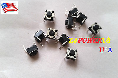 50pcs 6x6x5mm Tactile Tact Push Button Micro Switch Momentary