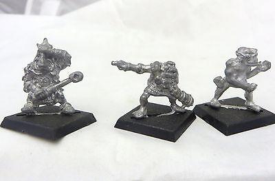 Warhammer Orc & Goblins Warmachine Crew 3 metal OOP rogue trader era 80s