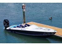 Custom speed boat with supercharged Mercury Verado 300HP