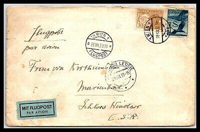 GP GOLDPATH: AUSTRIA COVER 1933 AIR MAIL _CV674_P10