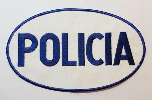VINTAGE X-LARGE PUERTO RICO POLICE RAID PATCH / POLICIA PR