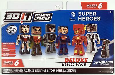 3DIT® DC Comics® Character Creator Deluxe Refills Children's Craft Kit