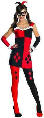 Harley Quinn DC Comics Batman Arkham City Fancy Dress Up Halloween Teen Costume](Harley Quinn Arkham City Halloween Costume)