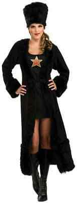 Russian Halloween (Black Russian Woman Cocktail Party Fancy Dress Up Halloween Sexy Adult)