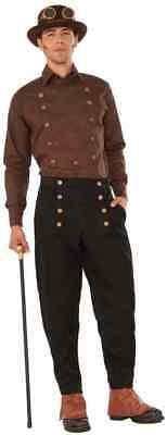 Steampunk Pants Black Victorian Fancy Dress Up Halloween Adult Costume Accessory - Steampunk Dress Up Male