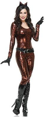 Leopard Cutie Catsuit Bronze Wild Cat Fancy Dress Halloween Sexy Adult Costume