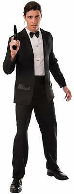 Secret Agent Tuxedo Spy Formal Tux Fancy Dress Up Halloween Adult Costume