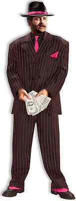 Jazzy Pink Gangster 20's Mob Boss Mafia Fancy Dress Up Halloween Adult Costume