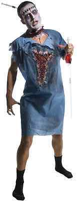 Zombie Patient Hospital Gown Walking Dead Fancy Dress Up Halloween Adult Costume