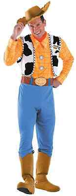 Woody Toy Story Cowboy Sheriff Fancy Dress Up Halloween Deluxe Adult Costume