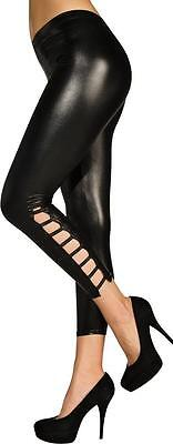 Sexy Wet-Look Leggings Black Fancy Dress Up Halloween Adult Costume Accessory - New Look Halloween Costumes