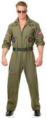 Wing Man Top Gun Air Force Pilot Military Fancy Dress Up Halloween Adult Costume (Military Pilot Kostüm)
