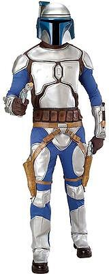 Jango Fett Star Wars Bounty Hunter Fancy Dress Up Halloween Deluxe Adult (Star Wars Bounty Hunter Kostüm)
