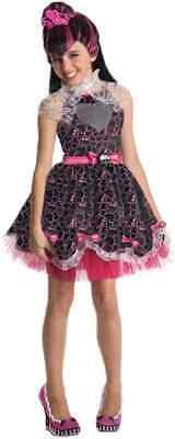 MONSTER HIGH DRACULAURA SWEET 1600 BLACK PINK HEART SKULL DRESS UP COSTUME LARGE