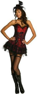 Western Saloon Halloween Costumes (Ooh La La Saloon Girl Western Burlesque Fancy Dress Halloween Sexy Adult)