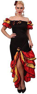 Kostüm Spanierin Damen Kleid Flamenco Mode Tanz Rumba Cosplay Fasching Karneval