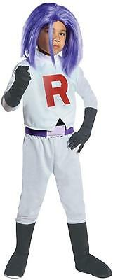 James Pokemon Team Rocket Nintendo Fancy Dress Up Halloween Child Costume (Team Rocket Halloween Costumes)