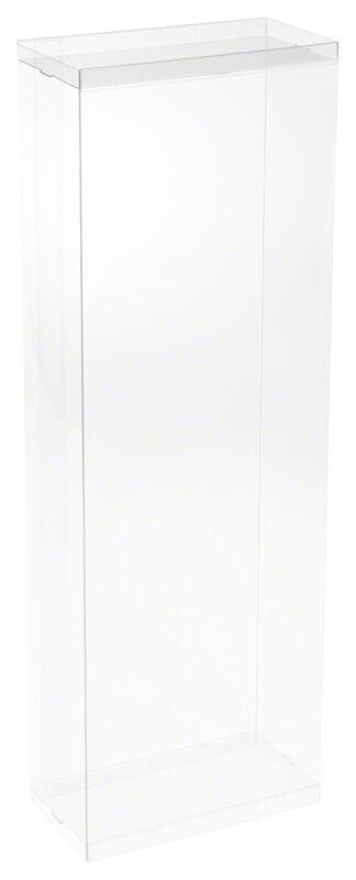 """DollSafe Clear Folding Doll Display Box for 15-16"""" Dolls, 6"""" W x 3"""" D x 17"""" H"""