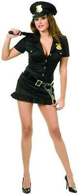 Naughty Cop Police Officer Girl Fancy Dress Up Halloween Sexy Adult Costume](Girl Cop Costume)