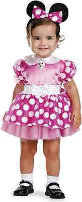 Minnie Mouse Pink Classic Disney Fancy Dress Up Halloween Toddler Child Costume