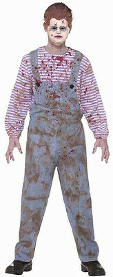 Boy's Haunted Child Scary Bloody Creepy Chucky Doll Costume and Mask Size 12-14](Baby Chucky Costumes)