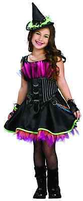 Rockin' Out Witch Wicked Punk Drama Queens Fancy Dress Halloween Child Costume