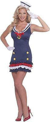 Ship Shape Sailor Girl Navy Pin Up Fancy Dress Halloween Sexy Adult Costume](Navy Pin Up Girl Costume)