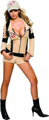 Ghostbusters Halloween Costumes Adults (Ghostbusters Jumpsuit Classic Movie Fancy Dress Up Halloween Sexy Adult)