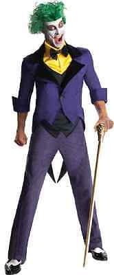 Joker Halloween Comic (Joker Batman DC Comics Super Villain Clown Fancy Dress Halloween Adult)