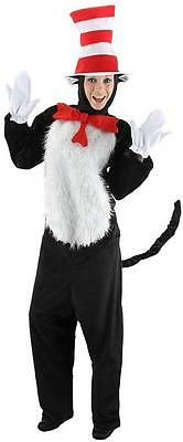 Cat in the Hat Dr Seuss Animal Fancy Dress Up Halloween Deluxe Adult Costume - Cats Dressed Up In Halloween Costumes