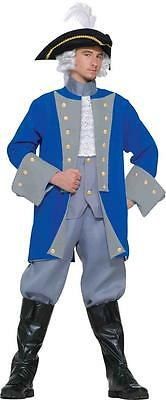 Colonial Halloween Costumes Adults (Colonial General George Washington Patriotic Fancy Dress Halloween Adult)