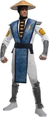 Raiden Mortal Kombat Ninja Warrior Fancy Dress Up Halloween Deluxe Adult Costume](Mortal Kombat Ninja Costume)