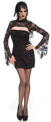 Dead Sexy Gothic Vampire Witch Black Fancy Dress Up Halloween Adult - Dead Witch Costume
