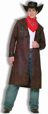 Desperado Cowboy Western Outlaw Brown Duster Fancy Dress Halloween Teen Costume