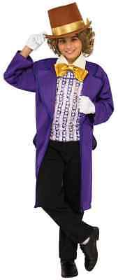 Willy Wonka Chocolate Factory Classic Movie Fancy Dress Halloween Child Costume
