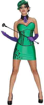 Riddler Female DC Comics Batman Villain Fancy Dress Halloween Sexy Adult Costume](Super Villain Costumes Female)