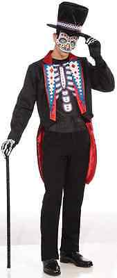 Male Skeleton Halloween Costume (Day of the Dead Male Skeleton Dia Muertos Fancy Dress Halloween Adult)