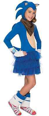Sonic Boom Girl Hedgehog Sega Video Game Fancy Dress Halloween Child Costume