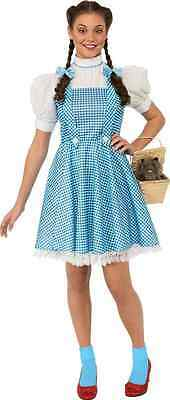Dorothy Wizard of Oz Gingham Country Girl Fancy Dress Up Halloween Adult Costume](Country Girl Halloween Costumes)