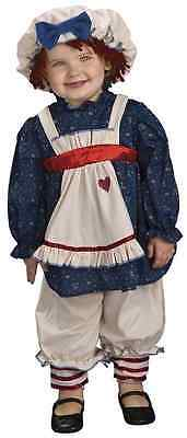 Ragamuffin Dolly Rag Doll Raggedy Ann Fancy Dress Up Halloween Child Costume