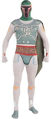 Boba Fett Skin Suit Star Wars Bounty Hunter Fancy Dress Halloween Adult (Star Wars Bounty Hunter Kostüm)