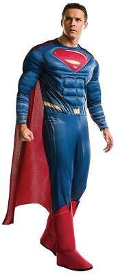 Superman Justice League Superhero Fancy Dress Up Halloween Deluxe Adult - Justice League Halloween Costumes