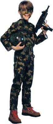 G.I. Soldier Camo Army Military Fancy Dress Up Halloween Deluxe Child Costume - Kids Soldier Dress Up