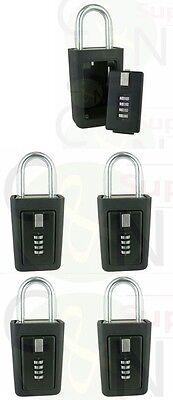 5 Lockboxes Realtor Key Storage Lock Box Real Estate 4 Digit Lockbox